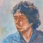 zelfportret 20x20 cm olieverf op doek