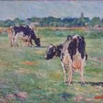koeien 40x50 oliverf op doek