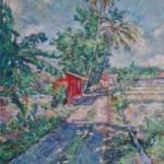 pos ronda merah 30x40 cm olieverf op doek